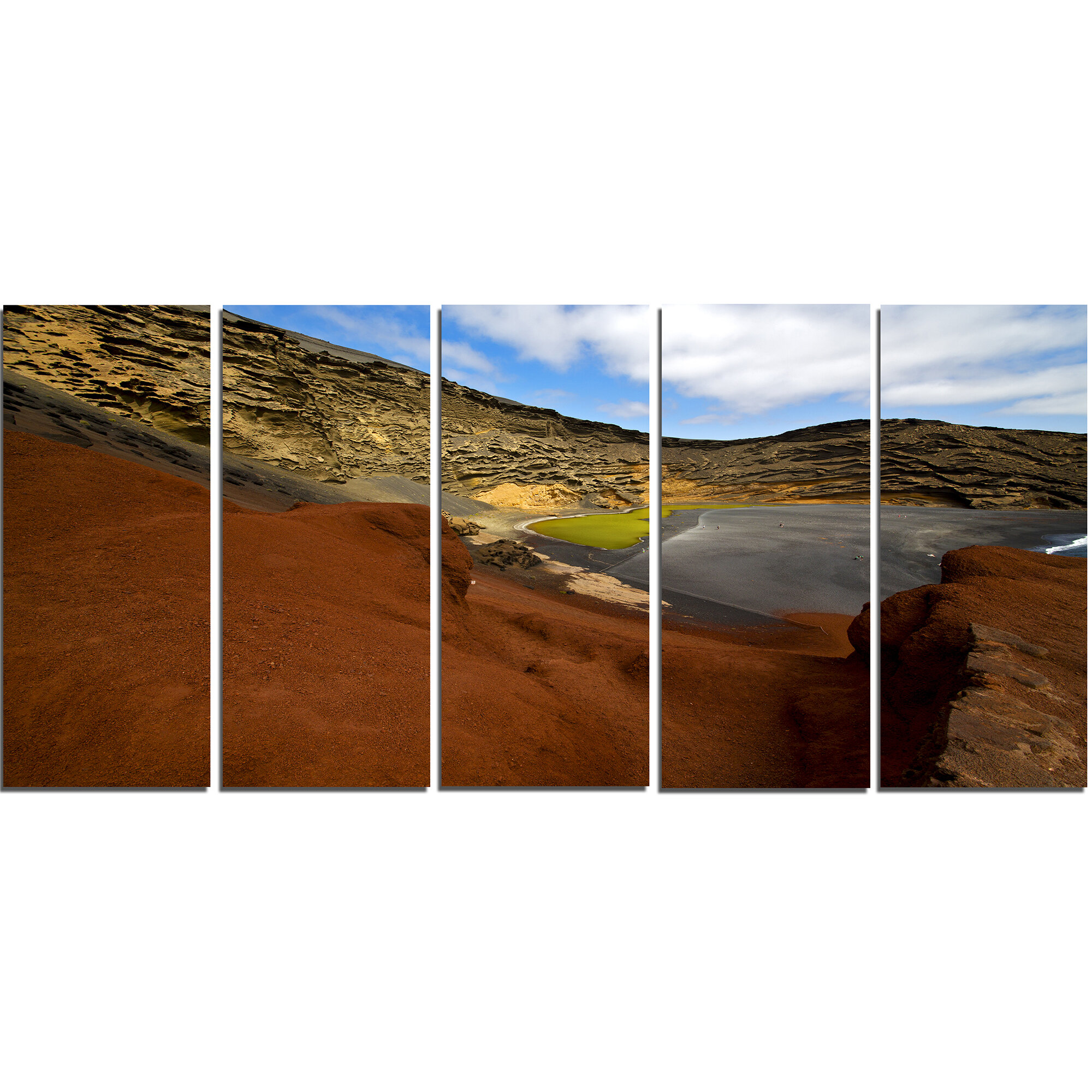 Designart In El Golfo Lanzarote Spain Musk Pond 5 Piece Photographic Print On Wrapped Canvas Set Wayfair