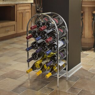 Orofino Freestanding 14 Bottle Floor Wine Rack