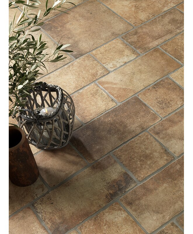 "Newberry 8"" x 16"" Porcelain Field Tile in Cotto"
