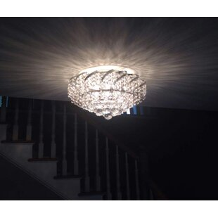 House of Hampton Carson 3-Light Glass Shaded Flush Mount