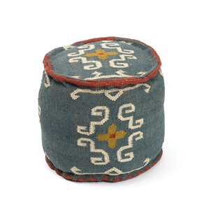 Alonso Tribal Kilim Ottoman by Bungalow Rose