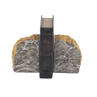 Rustic Domed Rock Bookends (Set of 2) by CosmoLiving by Cosmopolitan