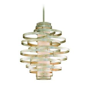 Vertigo 4-Light Geometric Chandelier by Corbett Lighting