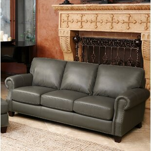 Carthage Genuine Leather Sofa by Darby Home Co