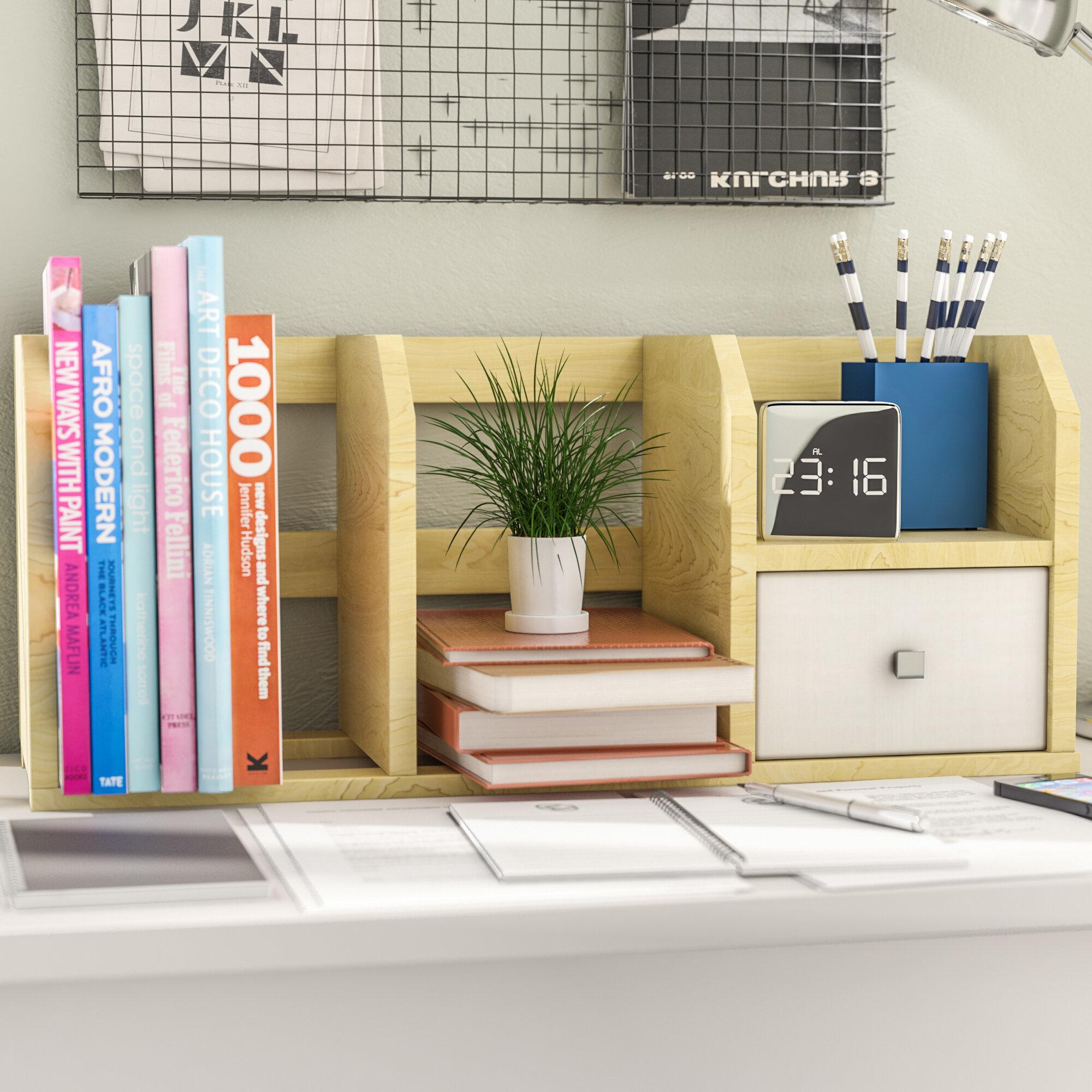 Image of: Rebrilliant Desk Storage Shelf With Bin Supplies Organizer Reviews Wayfair Ca