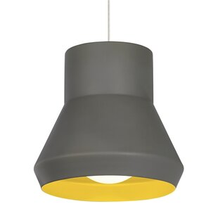 1-Light Bell Pendant by Ivy Bronx