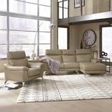 Zurcher Contemporary Upholstered 2 Piece Leather Living Room Set by Orren Ellis