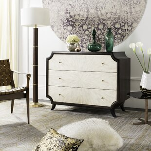 Everly Quinn Risa Wood 3 Drawer Dresser