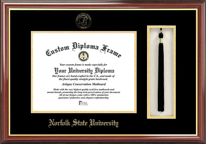 Campus Images Ncaa Norfolk State Spartans Tassel Box And Diploma Frame Wayfair