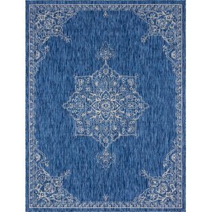 Cowhill Blue/Gray Indoor/Outdoor Area Rug
