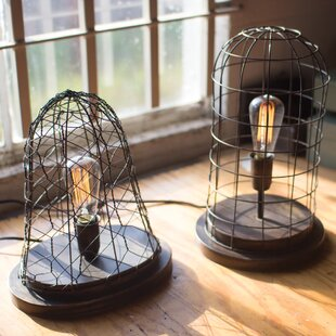 Compare prices Half Moon Bay Wire Cage Desk Old Brass 17 Desk Lamp By Trent Austin Design