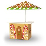 Christmas Gingerbread House 2-Piece Home Bar Set