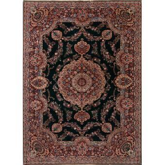 Brayden Studio Eleanora Gaze Hand Tufted Wool Crimson Area Rug Wayfair