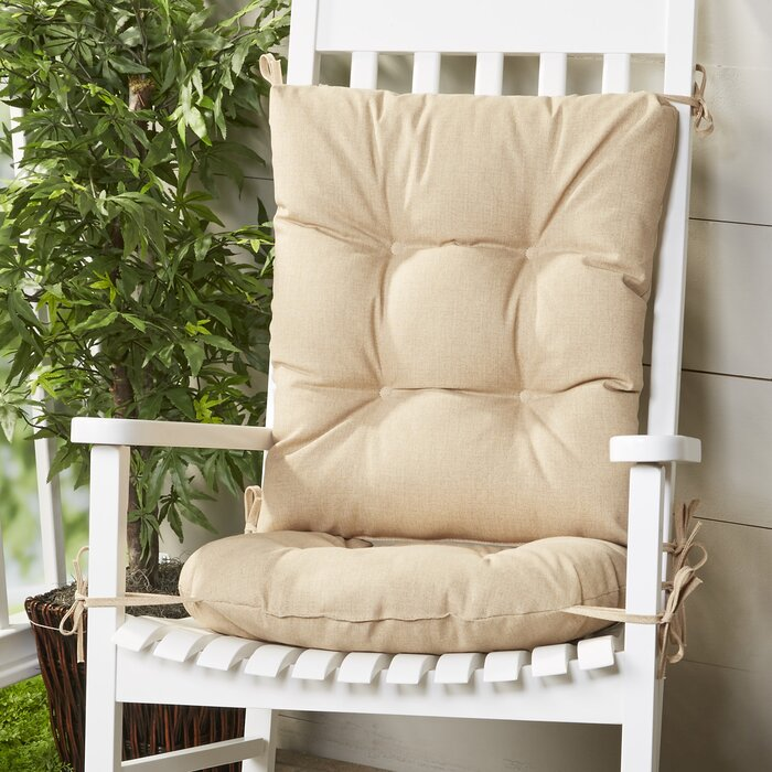 Enjoyable Wayfair Basics Indoor Outdoor 2 Piece Rocking Chair Cushion Set Interior Design Ideas Pimpapslepicentreinfo