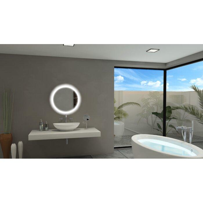 Round Backlit Bathroom/Vanity Mirror