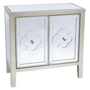Zayne Wood Mirror 2 Door Accent Cabinet ByHouse of Hampton