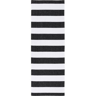 Birkas Black/white Indoor/Outdoor Rug By Mercury Row