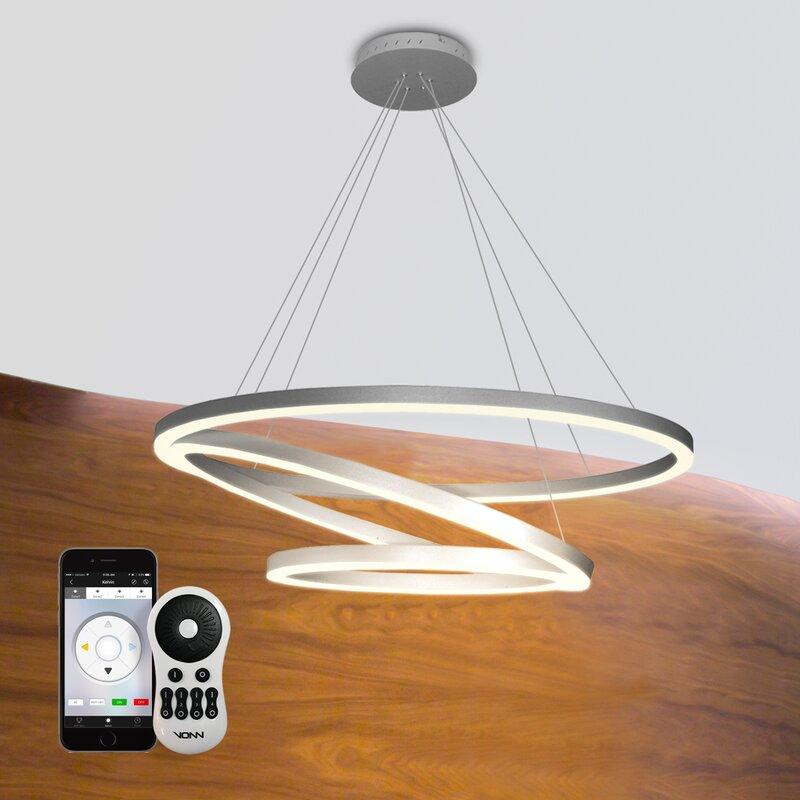 Orren Ellis Rojas WiFi-Enabled Tunable 3-Light LED Geometric ...
