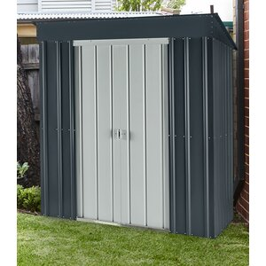 Skillion 5 ft. 7 in. W x 3 ft. 9 in. D Metal Lean-To Storage Shed