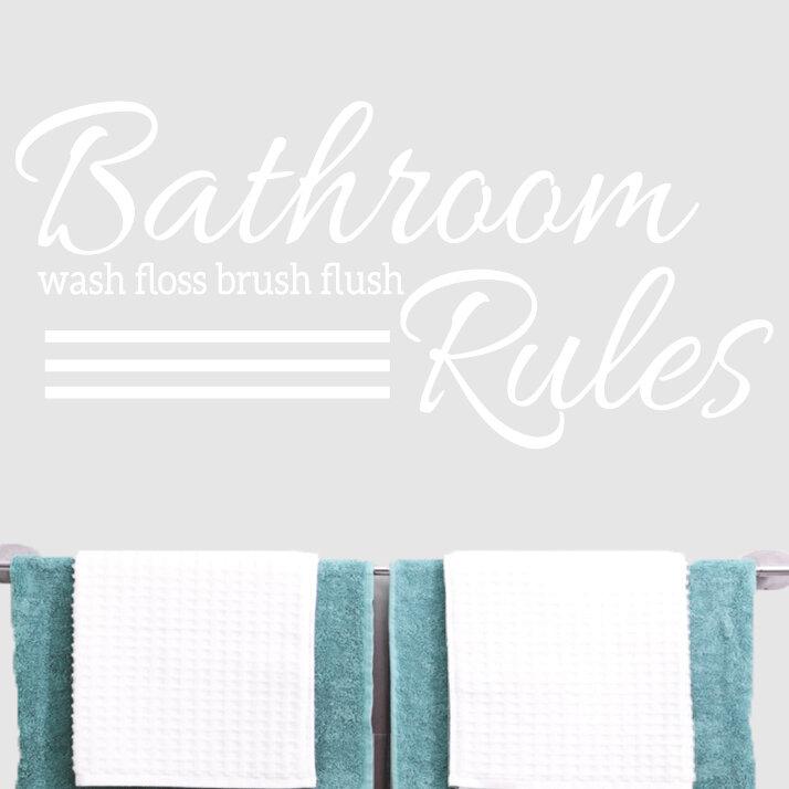 SweetumsWallDecals Bathroom Rules Wall Decal U0026 Reviews | Wayfair