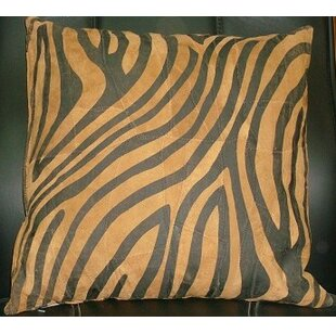 Abel Leather Throw Pillow by Bloomsbury Market Cheap