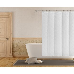 Rhea Embroidered Single Shower Curtain