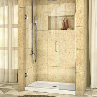 Unidoor Plus 45 x 72 Hinged Frameless Shower Door with Clearmax? Technology by DreamLine