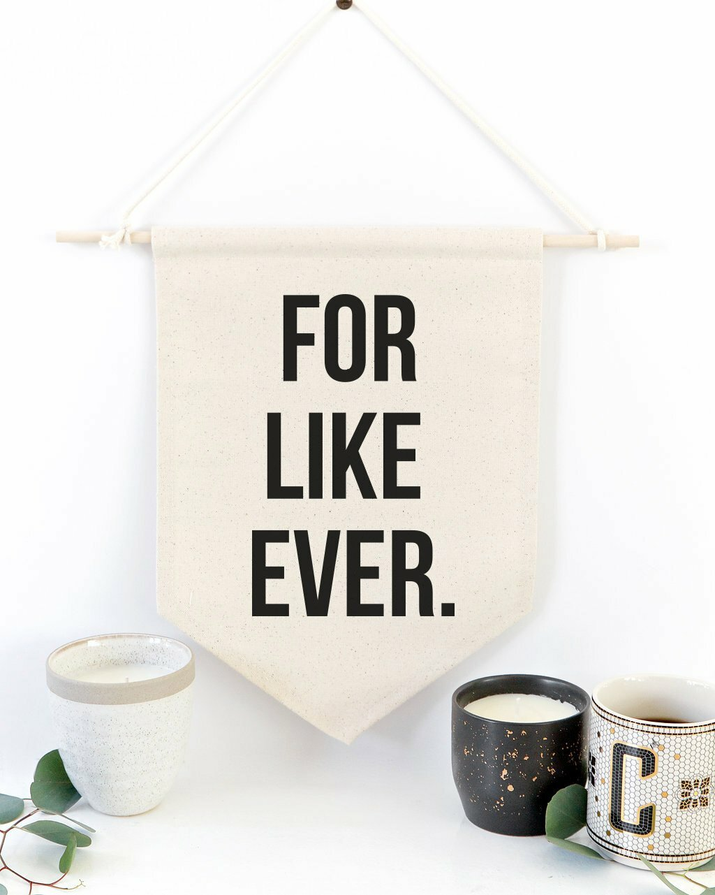 Ebern Designs Cotton For Like Ever Wall Hanging