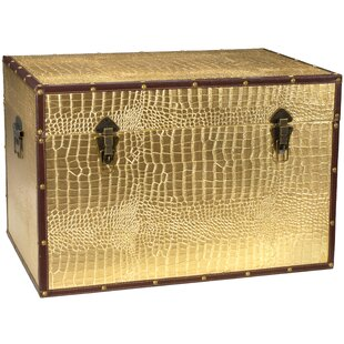 Vetlanda Faux Leather Crocodile Trunk by World Menagerie