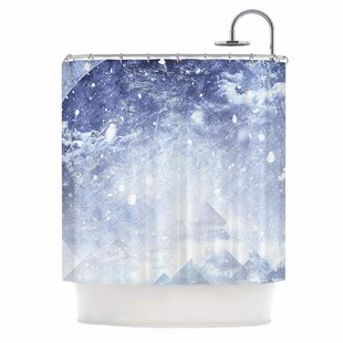 Even Mountains Get Cold Single Shower Curtain