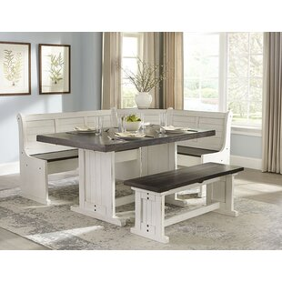 August Grove Villepinte 5 Piece Breakfast Nook Dining Set