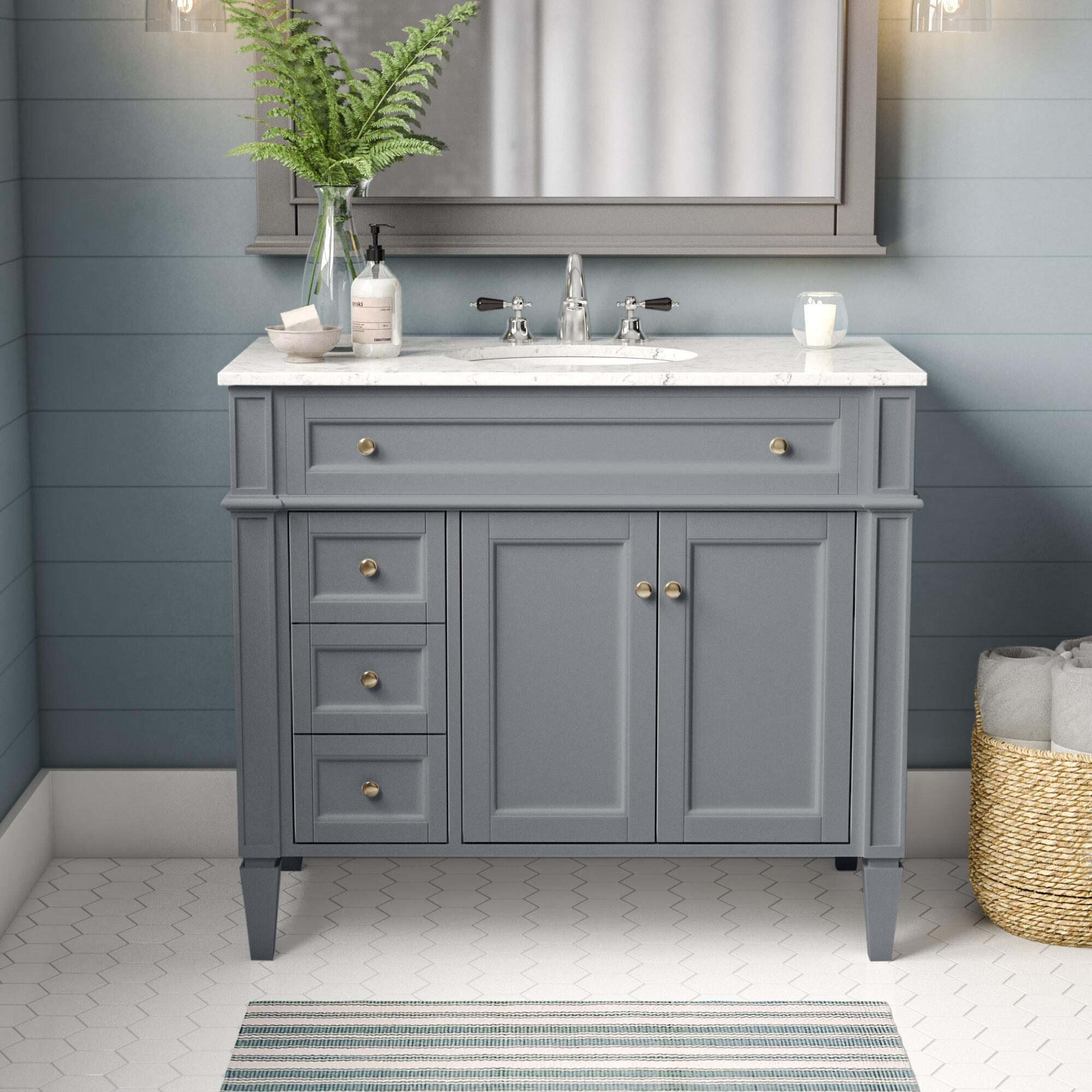 Birch Lane Antionette 40 Single Bathroom Vanity Set Reviews Wayfair