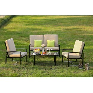 Hedberg 4 Piece Sofa Seating Group with Cushions