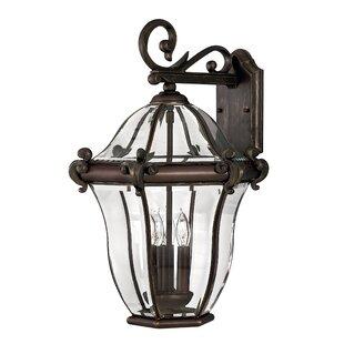 San Clemente 3-Light Outdoor Wall Lantern..