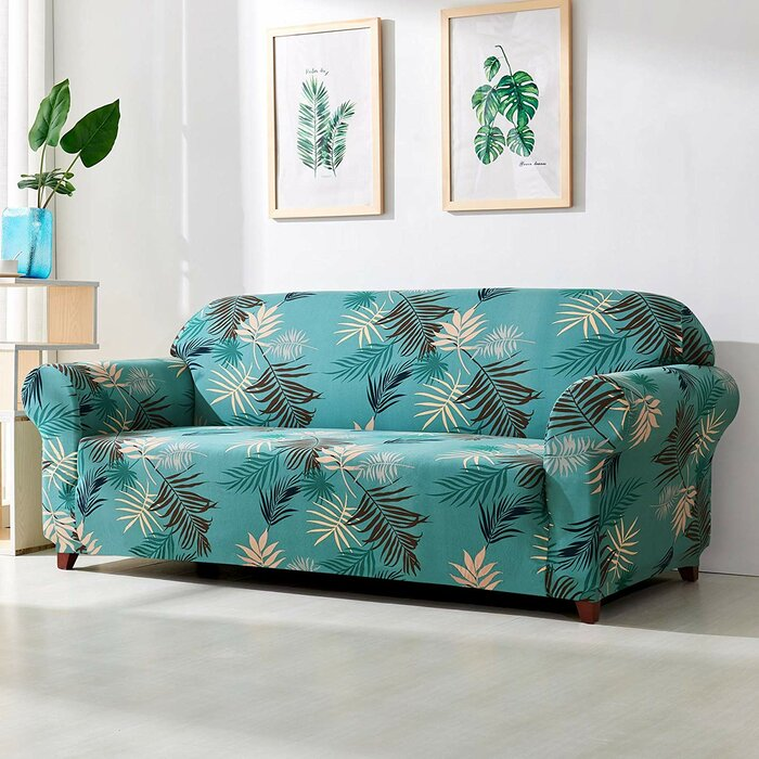 Strange Leaves Printed Stretch Loveseat Slipcover Unemploymentrelief Wooden Chair Designs For Living Room Unemploymentrelieforg