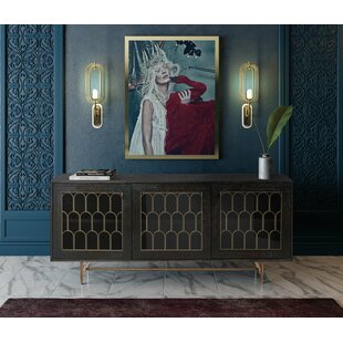 Lavine Wood Buffet Table by Everly Quinn