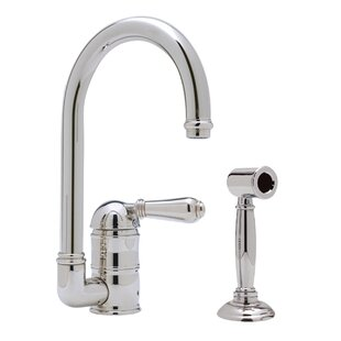 Rohl Country Single Handle Kitchen Faucet with Side Spray