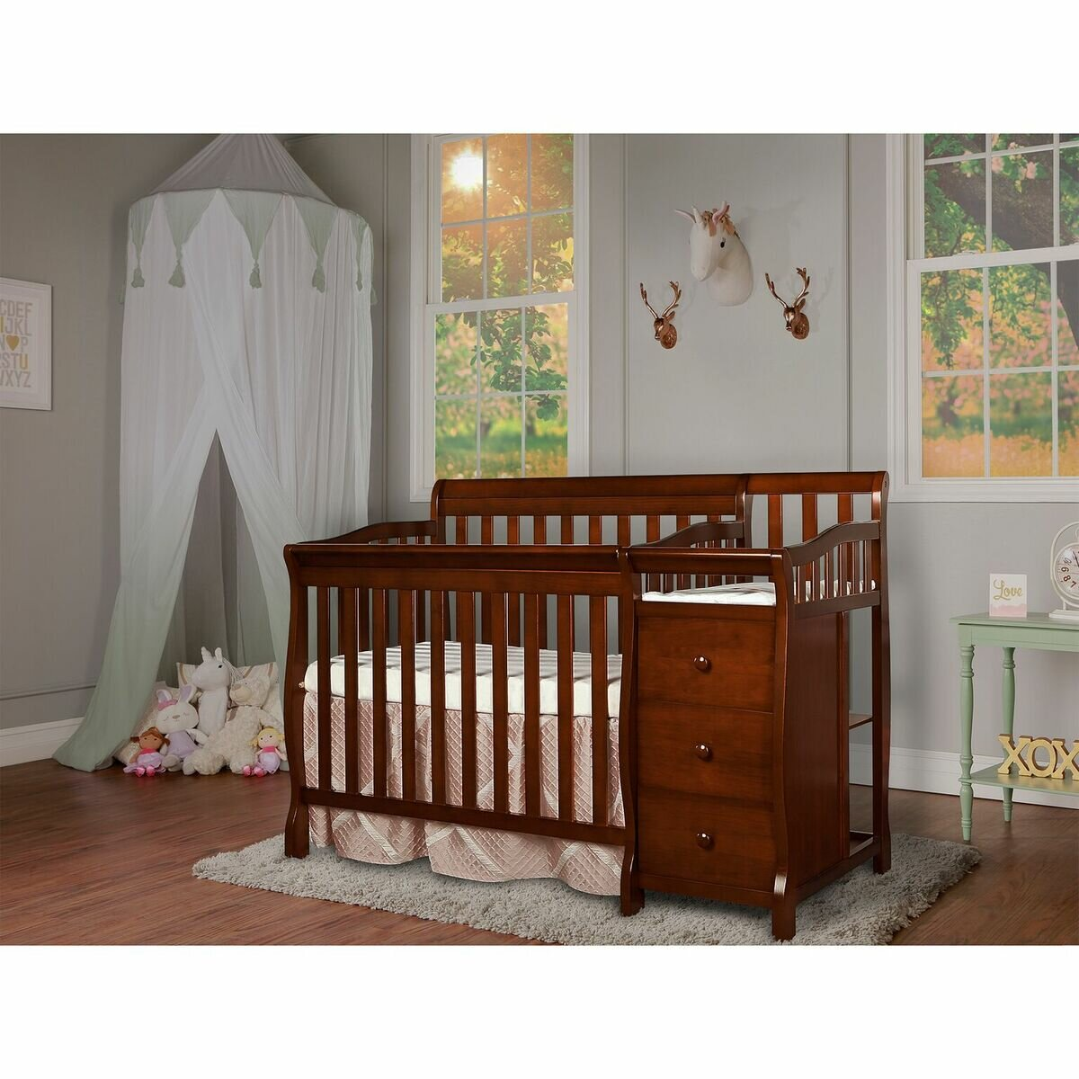 made union sets color pine mattress mini wood dimensions cribs levels chic bedding baby crib from finished fresh convertible four in pretty adjustable gray nursery