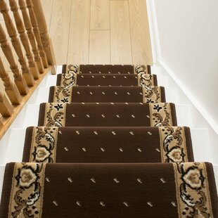 Alsafi Tufted Brown/Cream Stair Runner Image