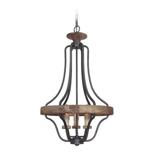 Laurel Foundry Modern Farmhouse Elisabetta 3-Light Empire Chandelier