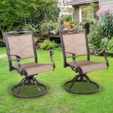 Michal Swivel Patio Dining Chair (Set of 2) by Fleur De Lis Living