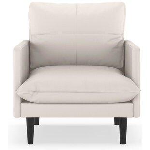 Schiffman Vegan Leather Armchair by Orren Ellis