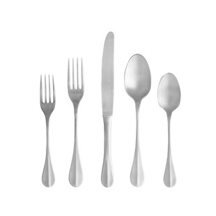 Nau 5 Piece 18/10 Stainless Steel Flatware Set, Service for 1