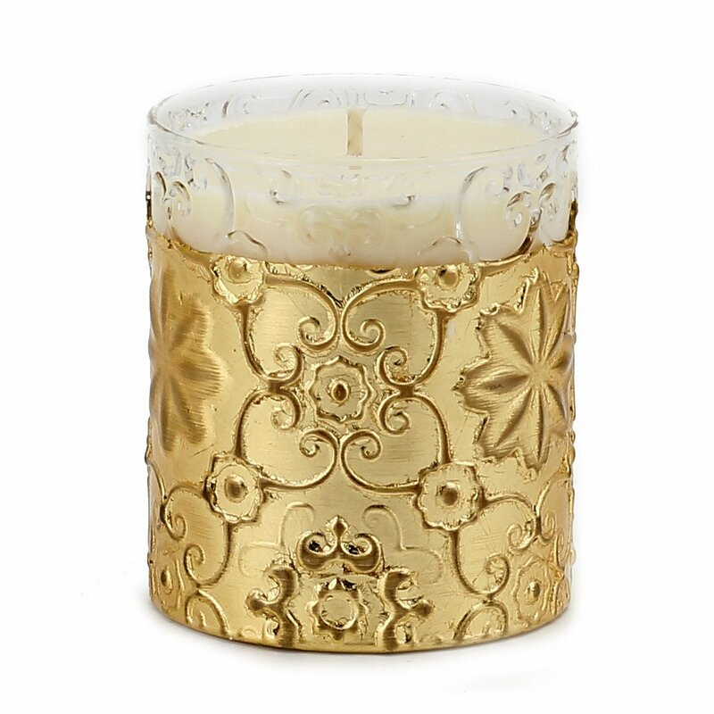 House Of Hampton Arabesque Natale Blue Spruce Scented Jar Candle Wayfair
