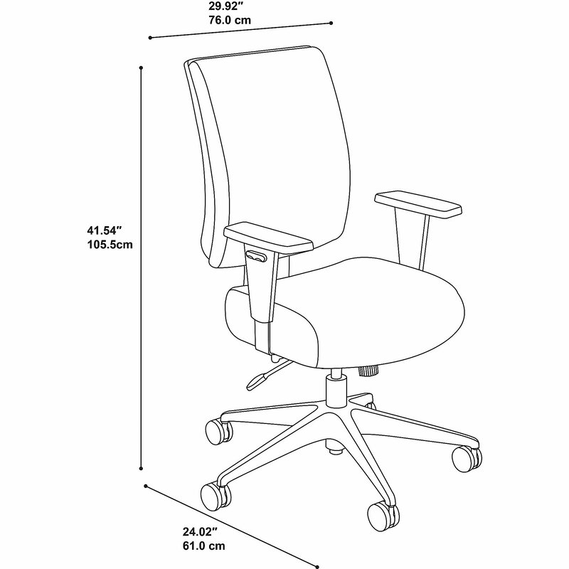 Bush Business Furniture Accord Mid Back Ergonomic Executive Chair