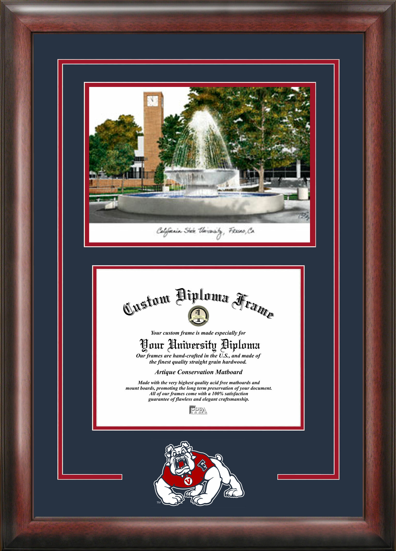 Campus Images Ncaa Fresno State Bulldogs Spirit Graduate Diploma With Campus Images Lithograph Frame Wayfair