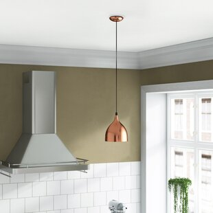 Fife 1-Light Dome Pendant by Wrought Studio