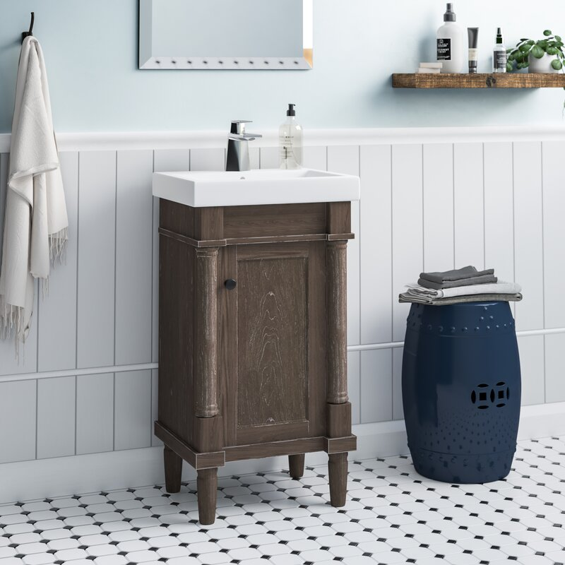 Gracie Oaks Malena 18 Single Sink Bathroom Vanity Set Reviews Wayfair