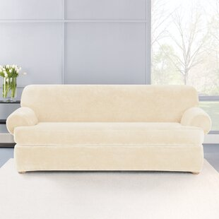 Compare Stretch Plush 2 Piece T-Cushion Sofa Slipcover Set by Sure Fit Reviews (2019) & Buyer's Guide