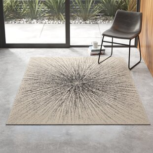 Modern Abstract Ivory Cream Area Rugs Allmodern